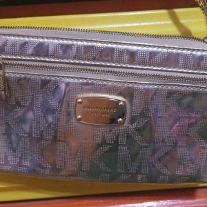Gold Michael Kors purse